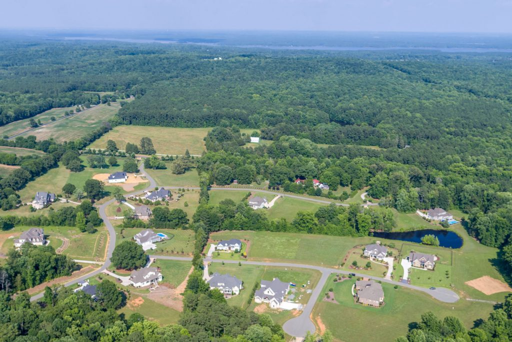 Aerial Shot of The Hamptons